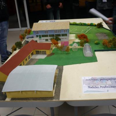 maquette de la Maison Familiale Rurale de Mauléon